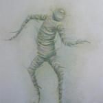 Танец бумажного человека. Картина, холст, масло, 60х80 см - Художник Мария Текун