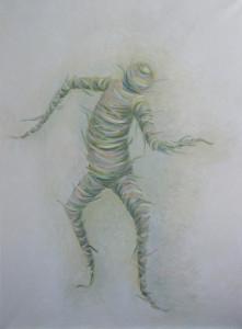 картина Танец бумажного человека, холст, масло, 60х80 см
