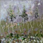 Утро в осеннем лесу. Картина, холст, масло, 40х40 см