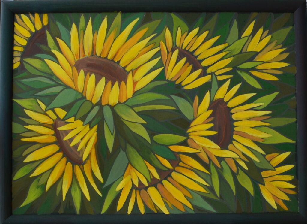 Картины из серии Цветы желаний серия картин темперными красками на холсте живопись темперой, художник Мария Текун maryatekun.ru