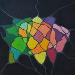 Карта ума. Холст на подрамнике, темпера, 80х80 см - Художник Мария Текун