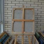 Окно в сад. Картина, холст, масло, 60Х70 см, художник Мария Текун maryatekun.ru фото 1