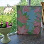 Окно в сад. Картина, холст, масло, 60Х70 см, художник Мария Текун maryatekun.ru фото 8