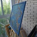 Море внутри. Картина, художник Мария Текун, картина для интерьера, продажа картин, авторская живопись, необычные картины, картина мозаика, картина-мозаика, холст, темпера фото 3