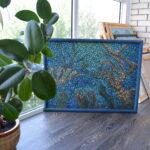 Море внутри. Картина, художник Мария Текун, картина для интерьера, продажа картин, авторская живопись, необычные картины, картина мозаика, картина-мозаика, холст, темпера