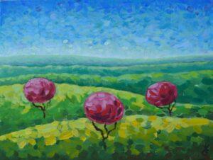 Весна в полях. Картина художник Мария Текун авторская живопись картины для интерьера продажа картин maryatekun.ru