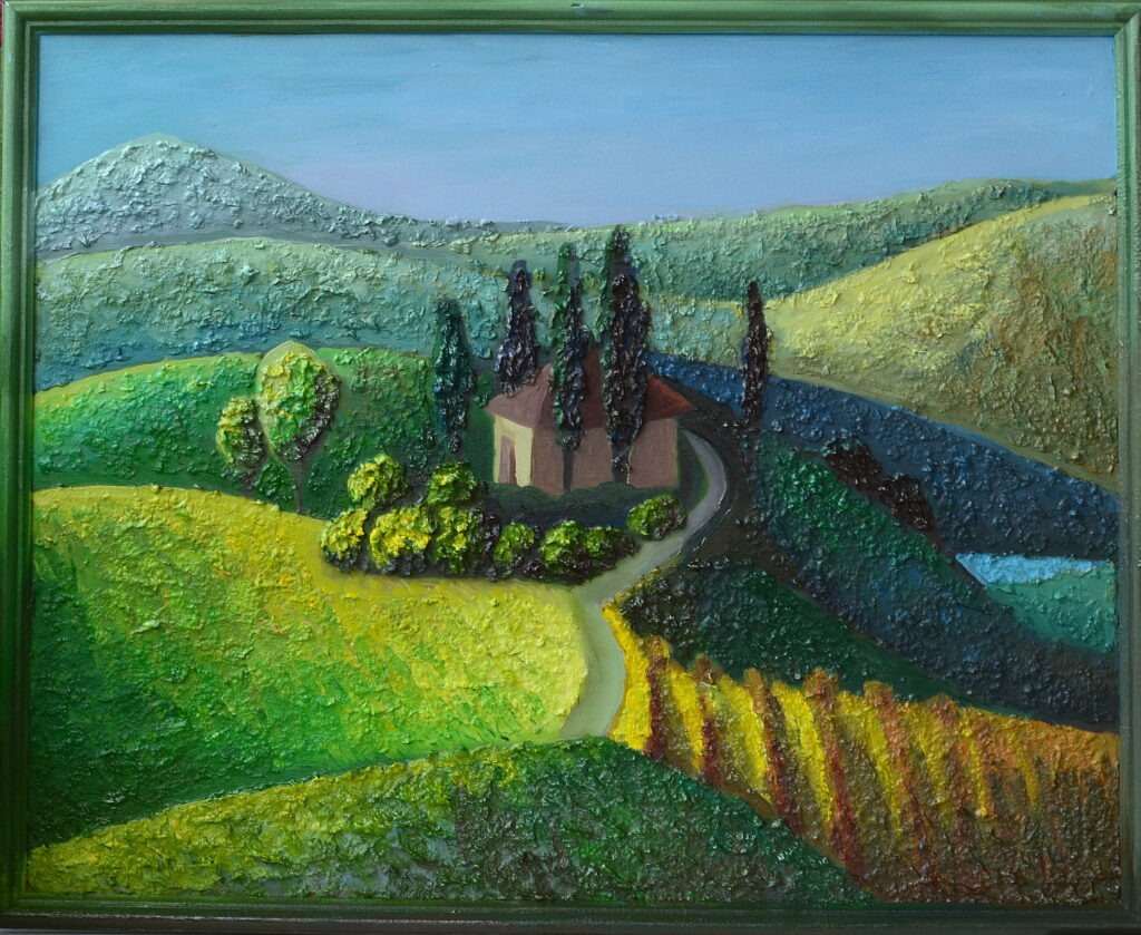 Домик в горах картина художник Мария Текун maryatekun.ru