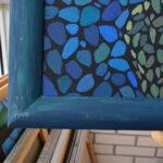 Море внутри. Картина, художник Мария Текун, картина для интерьера, продажа картин, авторская живопись, необычные картины, картина мозаика, картина-мозаика, холст, темпера фото 7