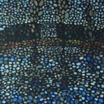 Домик у озера. Картина, холст на подрамнике, темпера, 40х50 см, 2020 г. - Художник Мария Текун