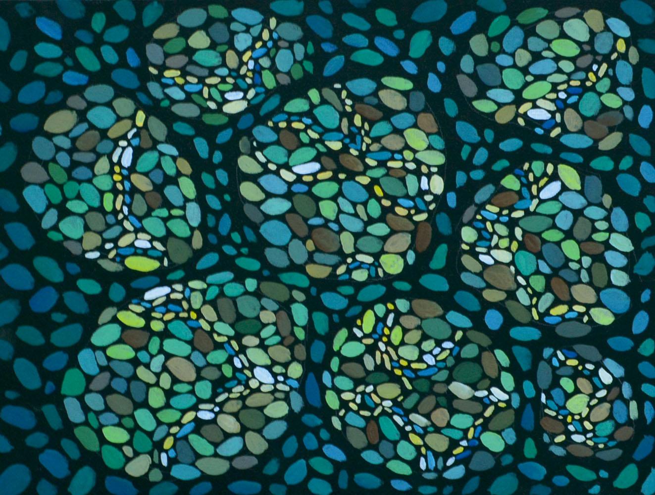 Морские камешки картина темперой, холст, темпера, 30х40 см, картина темперой на холсте, картина художника, живопись темперой, уникальная необычная картина художник Мария Текун maryatekun.ru