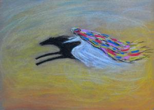 Ветер пустыни. Картон, сухая пастель, 30х40 см - Художник Мария Текун