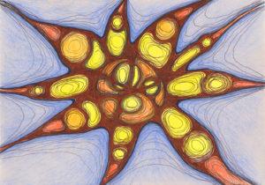 психоделическая картина Солнце
