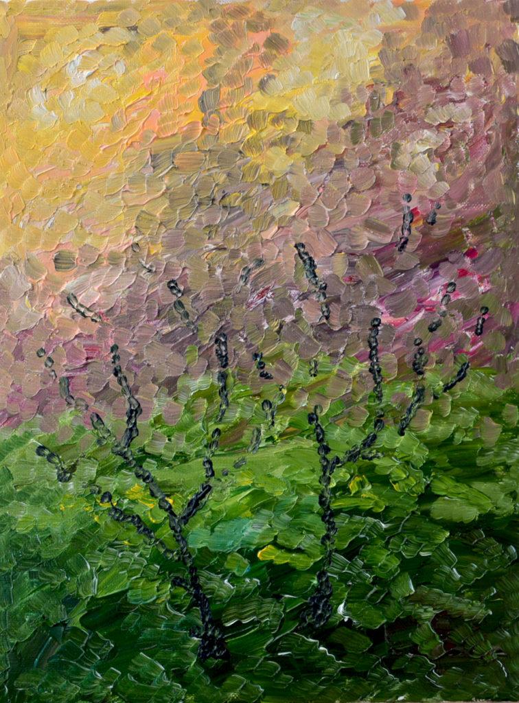 Сад вечного цветения картина маслом на холсте абстрактная живопись маслом картина художника интерьерная живопись картина для интерьера художник Мария Текун maryatekun.ru