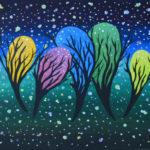Звездная пыль. Картина, холст, темпера, 30х40 см, багет - Художник Мария Текун