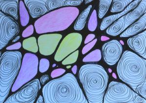 нейрографика опыт 1 картина рисунок психоделическая картина