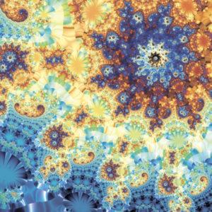 fractal-art 010 фрактал-арт, фрактальная картина 120х120 см, печать на пластике 10 мм, автор Д. Шахов maryatekun.ru