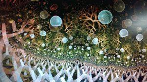fractal-art 003 фрактал-арт, фрактальная картина 60х90 см, печать на пластике 10 мм, автор Д. Шахов maryatekun.ru
