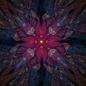 fractal-art 001 фрактал-арт фрактальная картина 80х80 см, печать на пластике 10 мм, автор Д. Шахов maryatekun.ru
