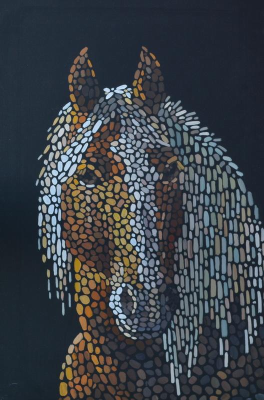 Портрет лошади по фото на заказ картина лошади художник Мария Текун maryatekun.ru