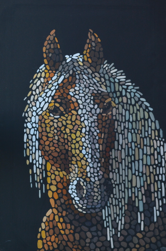 Портрет лошади по фото на заказ лошади художник Мария Текун maryatekun.ru