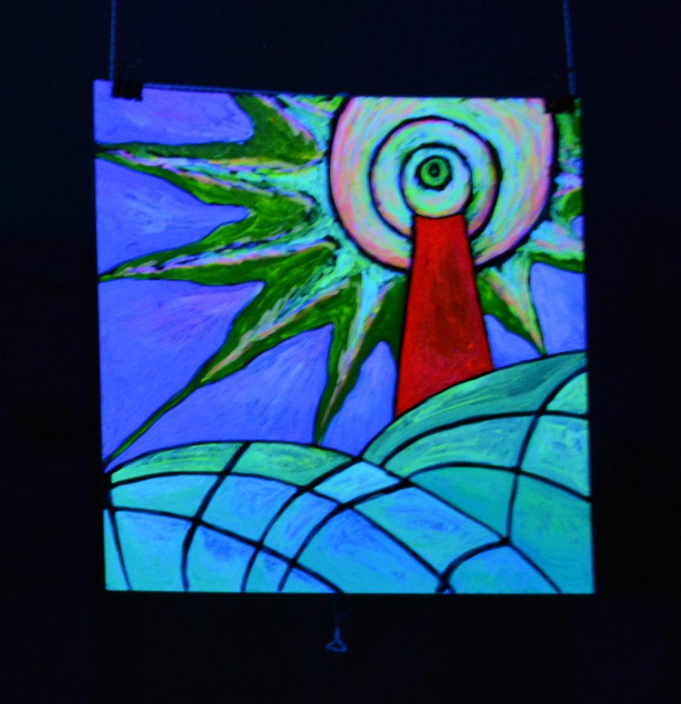 На маяк! светящаяся картина флуоресцентными красками maryatekun.ru