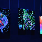 светящаяся картина флуоресцентными красками maryatekun.ru выставка в Москве