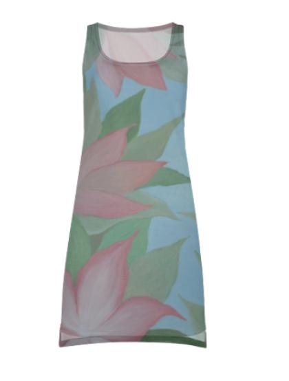 дизайн одежды и аксессуаров, арт-дизайн одежды, уникальные принты для одежды художник Мария Текун, дизайн одежды от maryatekun.ru платье-майка