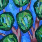 Лентинй лес. Картина, художник Мария Текун авторская живопись картины для интерьера продажа картин maryatekun.ru фото 3