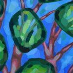Лентинй лес. Картина, художник Мария Текун авторская живопись картины для интерьера продажа картин maryatekun.ru фото 2