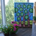 Лентинй лес. Картина, художник Мария Текун авторская живопись картины для интерьера продажа картин maryatekun.ru фото 8
