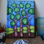 Лентинй лес. Картина, художник Мария Текун авторская живопись картины для интерьера продажа картин maryatekun.ru фото 6