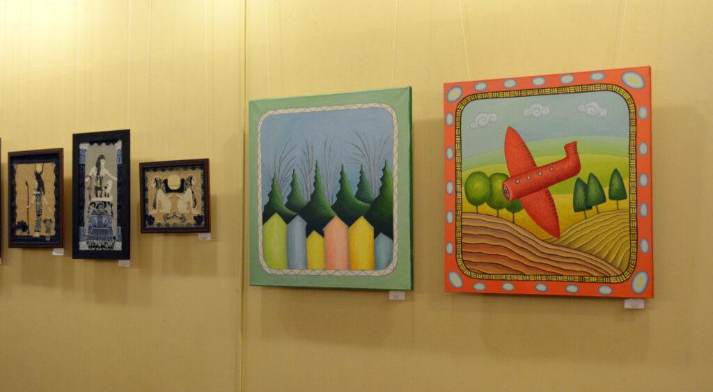 Выставка картин Мастера и Подмастерья галерея Крылатский Орнамент февраль 2020 живопись картины в Москве maryatekun.ru ;