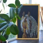 Портрет лошади картина темперой на холсте, картина художника, живопись темперой, уникальная необычная картина художник Мария Текун maryatekun.ru фото 2