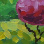 Утро в полях картина темперой на холсте картина художника, живопись темперой, уникальная необычная картина художник Мария Текун maryatekun.ru фото 2