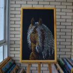 Портрет лошади картина темперой на холсте, картина художника, живопись темперой, уникальная необычная картина художник Мария Текун maryatekun.ru фото 4