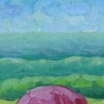 Утро в полях картина темперой на холсте картина художника, живопись темперой, уникальная необычная картина художник Мария Текун maryatekun.ru фото 3
