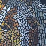Портрет лошади картина темперой на холсте, картина художника, живопись темперой, уникальная необычная картина художник Мария Текун maryatekun.ru фото 5