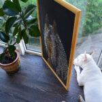 Портрет лошади картина темперой на холсте, картина художника, живопись темперой, уникальная необычная картина художник Мария Текун maryatekun.ru фото 7