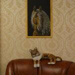 Портрет лошади картина темперой на холсте, картина художника, живопись темперой, уникальная необычная картина художник Мария Текун maryatekun.ru фото 10