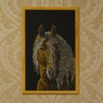 Портрет лошади картина темперой на холсте, картина художника, живопись темперой, уникальная необычная картина художник Мария Текун maryatekun.ru фото 11