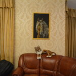 Портрет лошади картина темперой на холсте, картина художника, живопись темперой, уникальная необычная картина художник Мария Текун maryatekun.ru фото 9