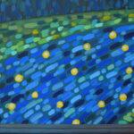 Звезды в реке 2 картина темперой на холсте, картина художника, живопись темперой, уникальная необычная картина художник Мария Текун maryatekun.ru фото 1