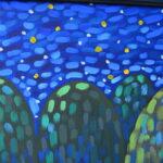 Звезды в реке 2 картина темперой на холсте, картина художника, живопись темперой, уникальная необычная картина художник Мария Текун maryatekun.ru фото 6