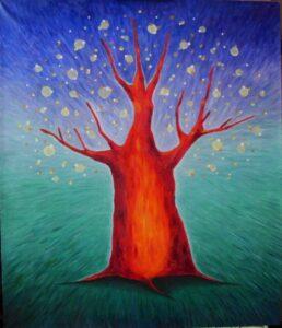 Дерево желаний. Картина, холст, масло, 50х60 см - Художник Мария Текун