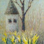 Первые цветы. Картина, холст, масло, 50х40 см, 2021 г - Художник Мария Текун