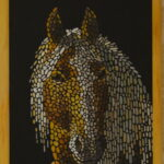 Портрет лошади картина темперой на холсте, картина художника, живопись темперой, уникальная необычная картина художник Мария Текун maryatekun.ru фото 1