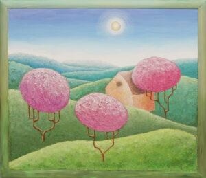 Рассвет. Картина, холст, акрил, смешанная техника, 60х70 см - Художник Мария Текун