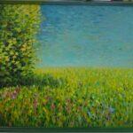 Солнечный день. Картина, двп, масло, 40х50 см, деревянный багет, 2020 г. - Художник Мария Текун