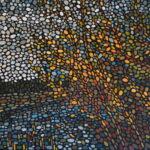 Вечернее солнце. Картина, холст на картоне, темпера, 50х70 см, 2020 г. - Художник Мария Текун