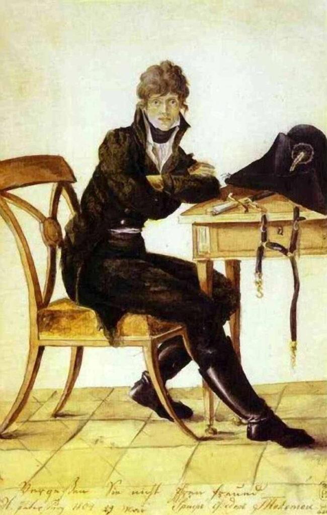 Художник Федор Толстой автопортрет 1804 года